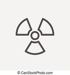 propeller, lijn, mager, pictogram