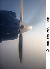 Propeller of a flying plane