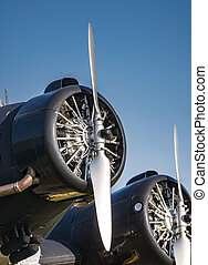 Propeller of an old historic aircraft