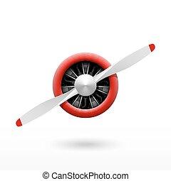 propeller, ouderwetse , vliegtuig