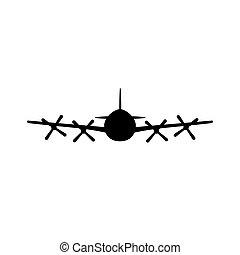 propeller vliegtuig, icon.