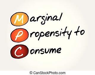 propensión, -, consumir, mpc, marginal