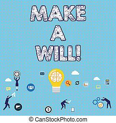 properties., 概念, 準備しなさい, テキスト, 作りなさい, 法的, 執筆, 意味, 遺産, will...