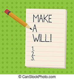 properties., 概念, 準備しなさい, テキスト, 作りなさい, 法的, 意味, 遺産, will., 手書き...