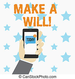 properties., 準備しなさい, ビジネス, 写真, 提示, 法的, 執筆, 概念, 遺産, 手, will...