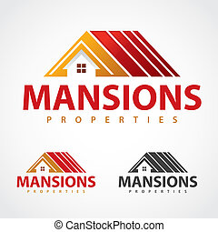 Mansions properties logo design template.