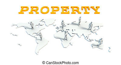Property Concept with Business Team