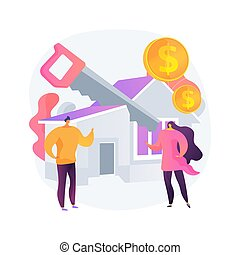 Property division abstract concept vector illustration. ...