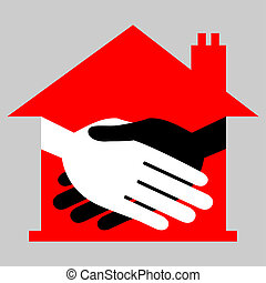 Property handshake design. - Property or real estate...