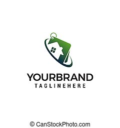 property house logo design concept template vector