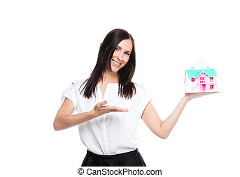property insurance - portrait of a young and beautiful girl...