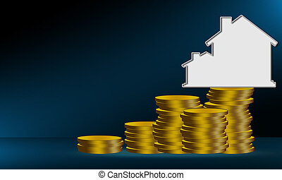 Property investment and house mortgage financial concept