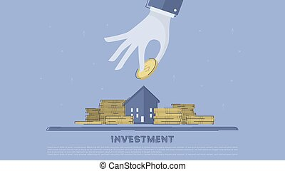 Property investment. Concept business vector