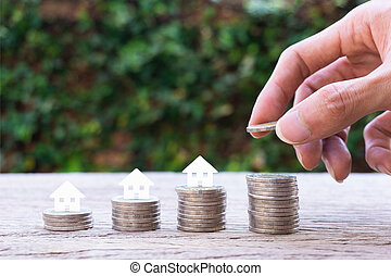 Property investment, home loan, house mortgage, resident financial concept.
