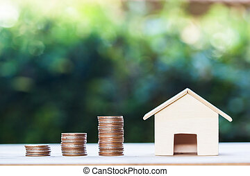 Property investment,  home loan, house mortgage, resident financial concept