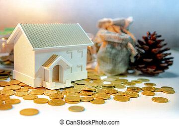 Property investment. Saving money concept