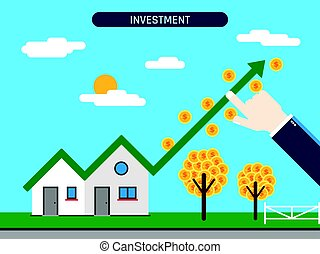 Property investment with success chart.