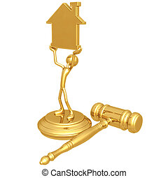Property Law - 3D Concept And Presentation Figure