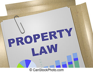 PROPERTY LAW concept