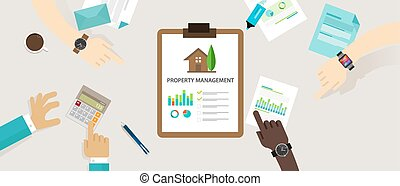 property management concept business house investment