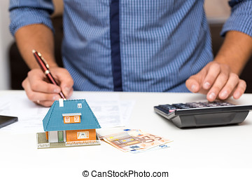 property management concept, calculating house expenses
