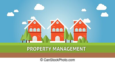 property management concept - property management with real...