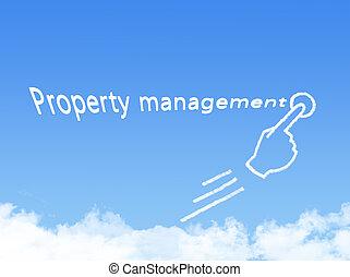 property management message cloud shape