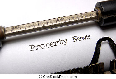 Property news - Closeup of the words property news on an old...