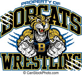 bobcats wrestling - property of bobcats wrestling team...