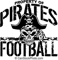 pirates football - property of pirates football team design