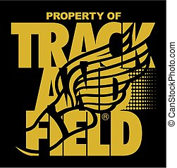track and field - property of track and field team design...