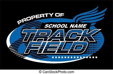 property of track & field team design for school, college or league