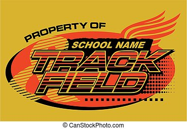 track & field - property of track & field team design for...