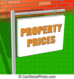 Property Prices Indicates House Cost 3d Illustration