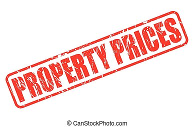 PROPERTY PRICES red stamp text