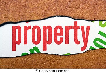 Property text on torn paper