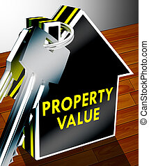 Property Value Means House Prices 3d Rendering