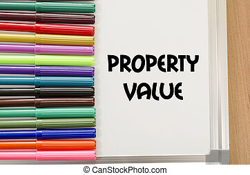 Property value text concept