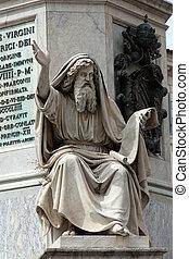 Prophet Ezechiel statue in Rome, Italy. Famous Spanish...