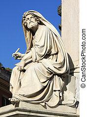 Isaiah - Prophet Isaiah (Isaias) statue in Rome, Italy....