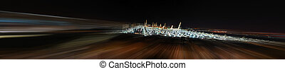 Prophet Mosque at night with blur