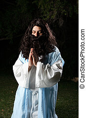 Prophet praying
