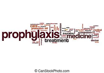 prophylaxie, mot, nuage