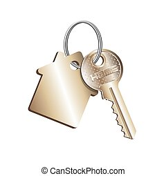 propiedad, concepto, alquiler, verdadero, venta, compra, llave, casa, anillo, engañar, propiedad