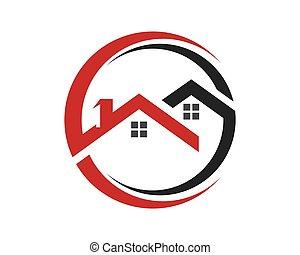 propiedad, logotipo, construcción, diseño