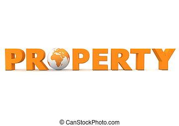 propiedad, mundo, naranja