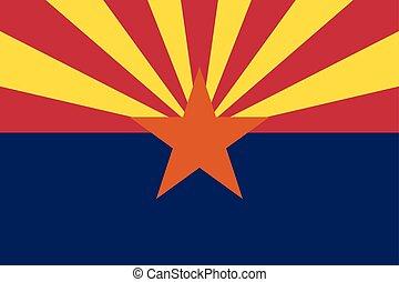 proporções, bandeira arizona, cores, correto