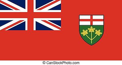 proporções, bandeira ontário, cores, correto