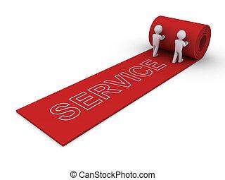 proporcionar, lujo, servicio, gente