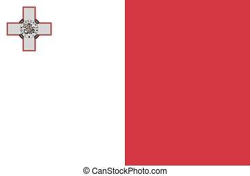 proporciones, bandera, malta, estándar